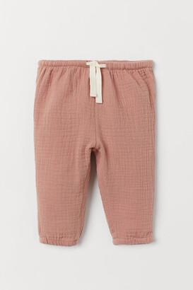 H&M Double-weave Pants - Orange