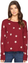 Splendid Ashbury Star Scoop Neck Pullover