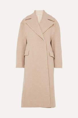 Acne Studios Olaia Oversized Mélange Wool-blend Coat - Beige