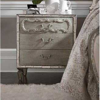 Hooker Furniture Sanctuary 3 - Drawer Solid Wood Bachelor's Chest in Gray