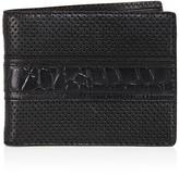 John Varvatos Perforated Leather Bifold Wallet