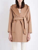 Max Mara Rialto hooded camel hair coat