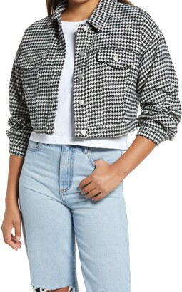 Vigoss Houndstooth Crop Workwear Jacket