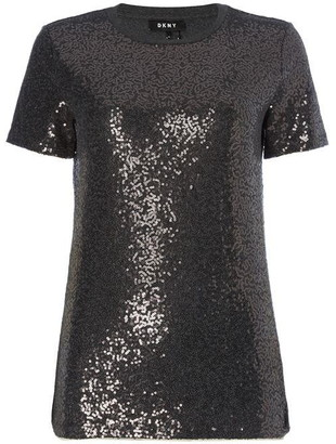 DKNY Core Sequin T Shirt