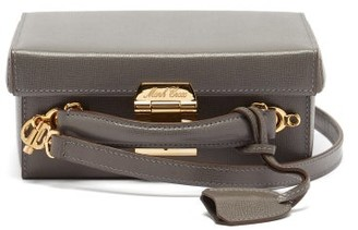 Mark Cross Grace Small Saffiano-leather Box Bag - Grey