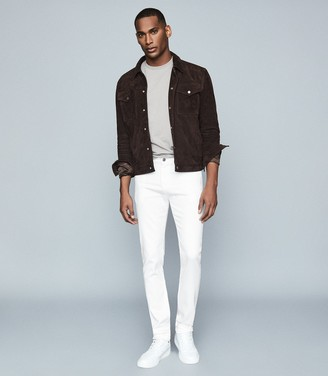 Reiss Cousin - Jersey Stretch Slim Fit Jeans in White