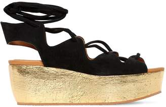 See by Chloe 70mm Suede Lace-up Wedges