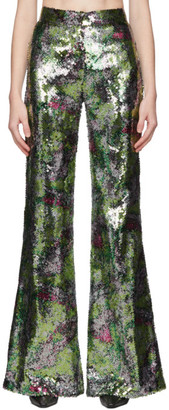 Halpern Multicolor Sequin Stovepipe Trousers