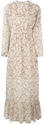 Annalie leaf print dress