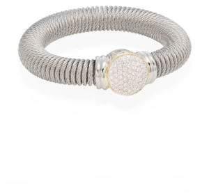 Alor Diamond, Stainless Steel & 18K Yellow Gold Coil Bracelet