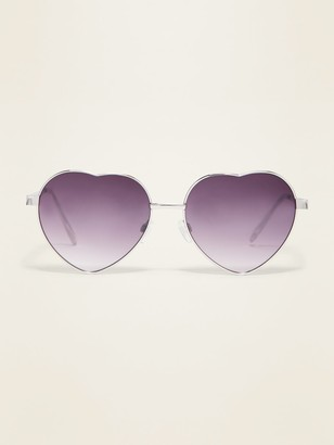Old Navy Heart-Shaped Wire-Frame Sunglasses for Women