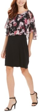Connected Petite Chiffon Popover Dress