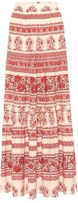 Johanna Ortiz Western Orientalism silk maxi skirt