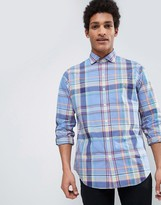 Polo Ralph Lauren Check Shirt Custom Regular Fit Cutaway Poplin