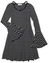 Ten Sixty Sherman Girls 7-16) Stripe Cutout Dress