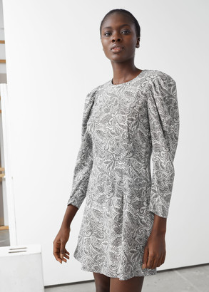And other stories Paisley Puff Sleeve Mini Dress