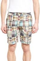 Vintage 1946 Men's Acid Wash Plaid Patch Shorts