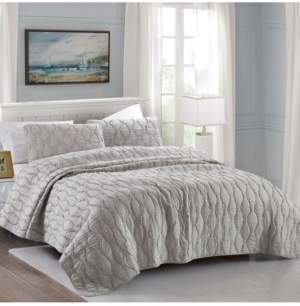 California Design Den Cotton 3-Piece Quilt Set, Full/Queen Bedding