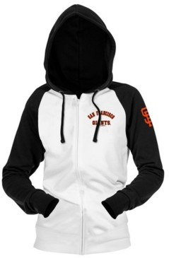 5th & Ocean San Francisco Giants Women's Zip-Up Contrast Hoodie