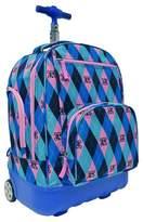 Pacific Gear Treasureland Hybrid Lightweight Rolling Backpack - Argyle