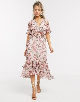 Hope & Ivy ruffle skirt floral co ord