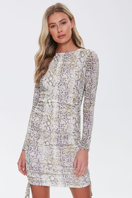 Forever 21 Snake Print Bodycon Dress