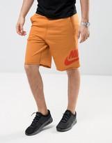 Nike Terry Shorts In Orange 833959-856