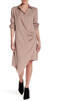 Do & Be Do + Be Faux Wrap Asymmetric Shirt Dress