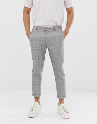 New Look smart trousers in light grey check