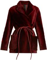 GIANI FIRENZE Lorella reversible shearling jacket