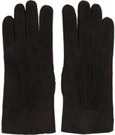 A.P.C. Black Leather Axel Gloves