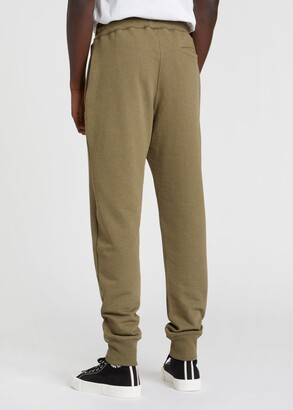 Paul Smith Men's Khaki Marl Zebra Logo Cotton Sweatpants