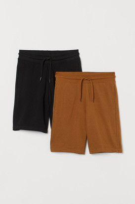 H&M 2-Pack Sweatshirt Shorts