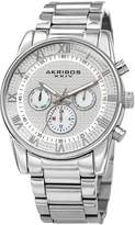 Akribos XXIV Sparkling Multifunction Pave Dial Watch, 41mm