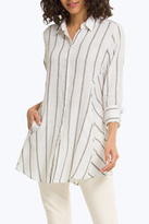 Foxcroft Cici Stripe Tunic Top