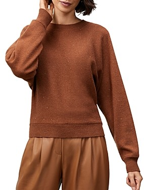 Lafayette 148 New York Sequined Tie Back Sweater