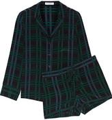 Equipment Lillian checked silk pajama top