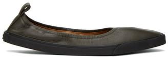 Dries Van Noten Green Flat Loafers