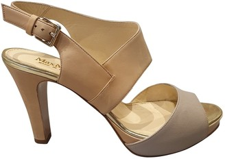 Max Mara Beige Leather Sandals