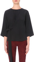 Joseph Contrast silk and jersey top