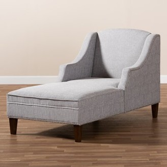Ophelia & Co. Ezio Modern and Contemporary Chaise Lounge Upholstery Color: Gray