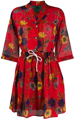 Jean Paul Gaultier Pre Owned 1991 Floral Shirt And Skirt Set