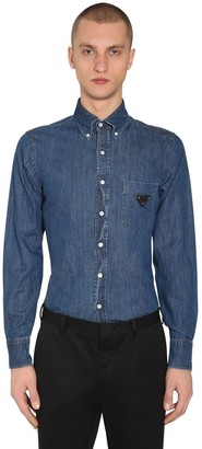 Prada Cotton Denim Button Down Shirt