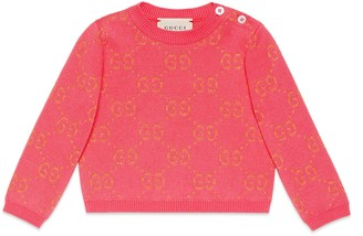Gucci Baby GG cotton lame jumper
