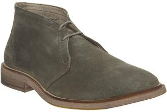 Ask the Missus Lazy Chukka Boots Sage Suede