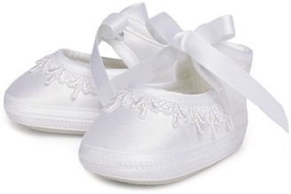 Sarah Louise Ribbon Detail Lace-Up Shoes
