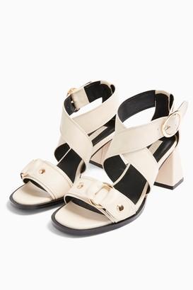 Topshop DARA Ecru Studded Sandals