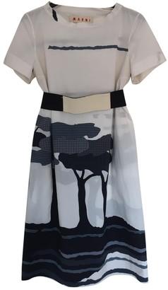Marni White Cotton Dresses