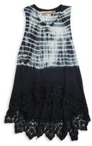Vintage Havana Girl's Shibori-Print Hi-Lo Dress