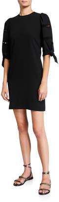 See by Chloe Embellished Crepe Shift Dress